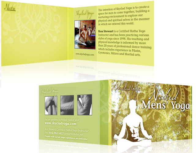 Skyclad Yoga Business Card Design