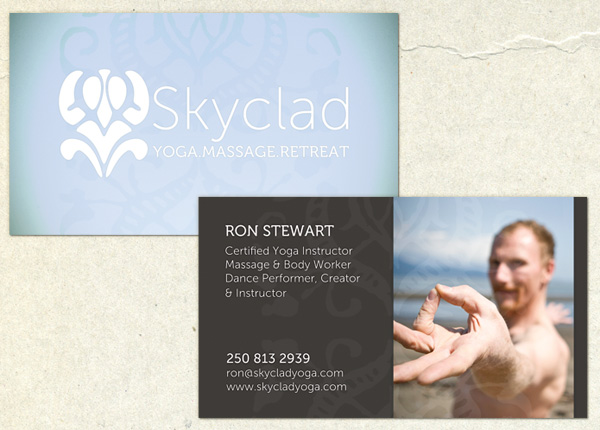 Skyclad Yoga Business Cards
