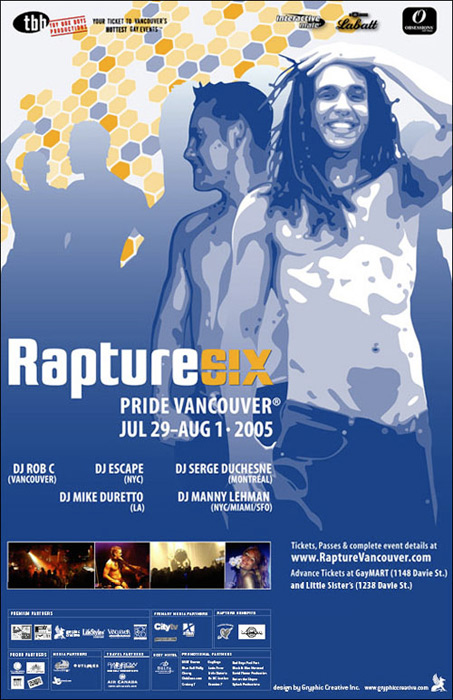 Rapture Vancouver Poster Design